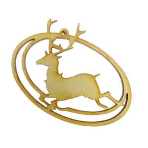 Reindeer Silhouette Ornament