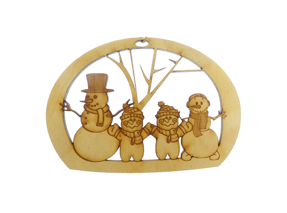 Snowman family of four ornament for Family of 4 christmas ornament