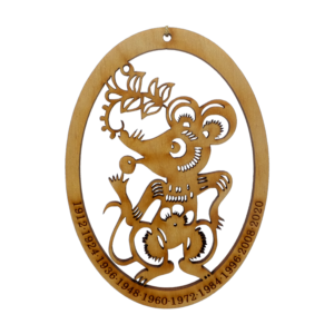 Chinese Zodiac Rat Ornament