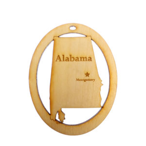 Personalized Alabama Ornament