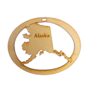 Personalized Alaska Ornament