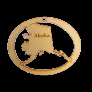 Personalized Alaska Ornament