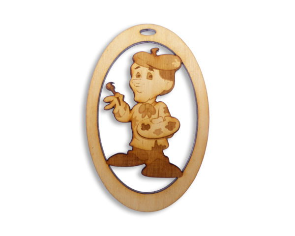 Personalized Artist Ornament