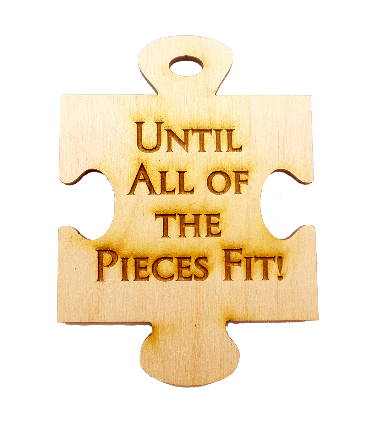 Until all of the pieces fit ornament