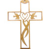 Cross with Doves Ornament