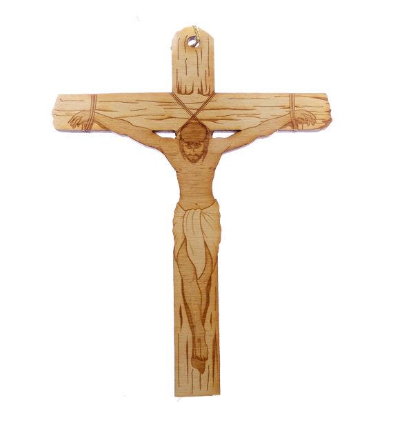 Cross with Jesus Ornament