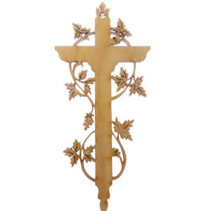 Cross with Vines Ornament