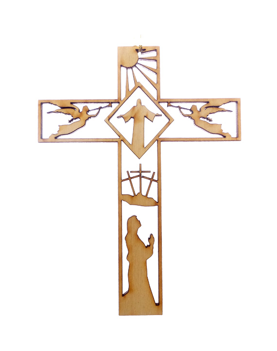 Jesus and Angels Cross Ornament