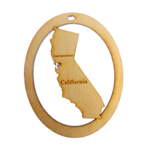 Personalized California Ornament