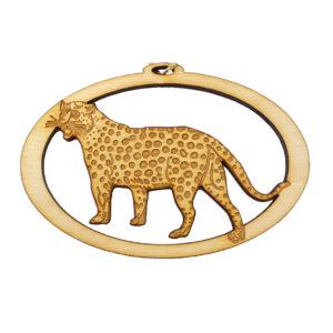 Personalized Cheetah Ornament
