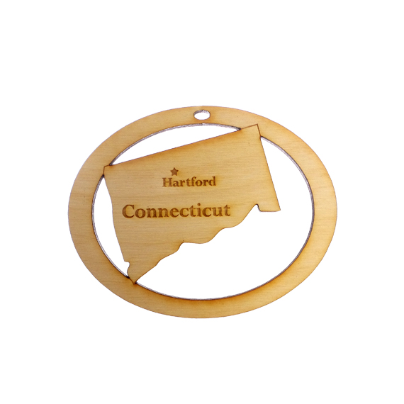Personalized Connecticut Ornament