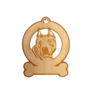 Personalized American Staffordshire Terrier Ornament