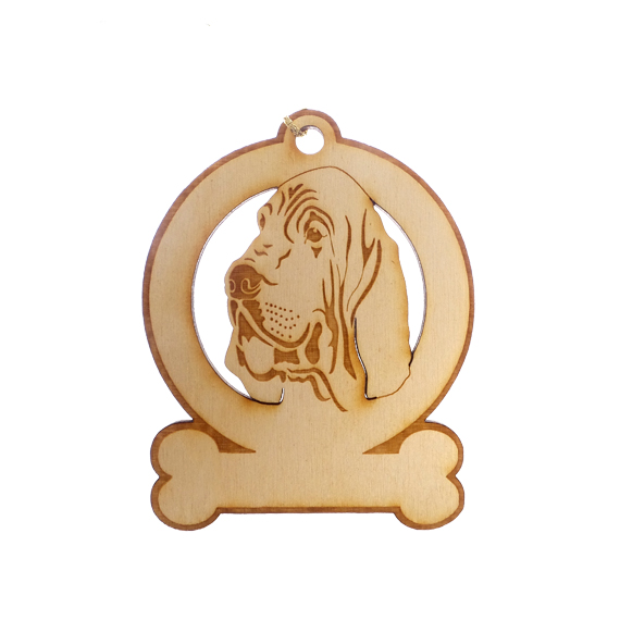 Personalized Bloodhound Ornament