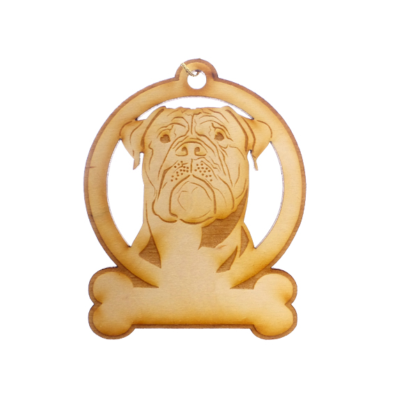 Personalized Bullmastiff Christmas Ornament