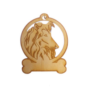 Personalized Collie Ornament