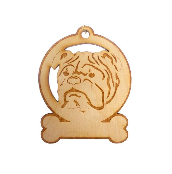 Personalized English Bulldog Ornament