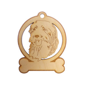 Personalized Bearded Collie Ornament