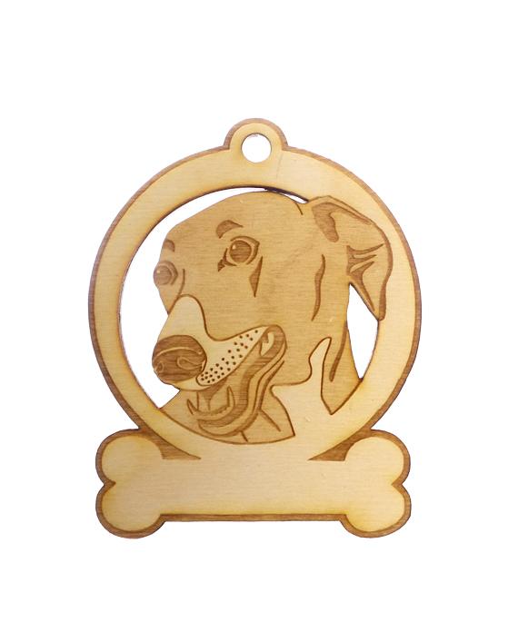 Personalized Greyhound Ornament
