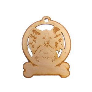Personalized Papillon Ornament