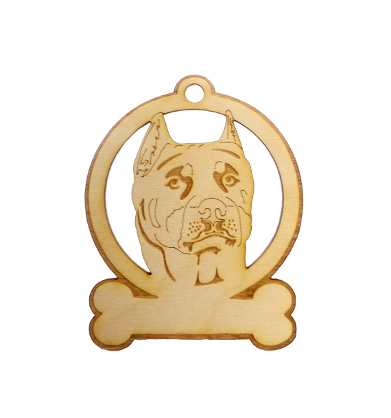 Personalized Pit Bull Ornament