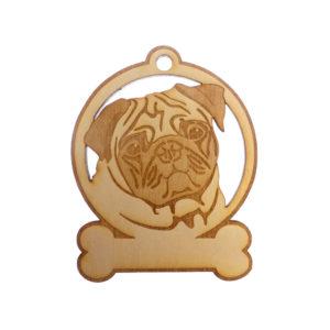 Personalized Pug Ornament