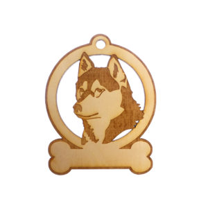 Personalized Husky Ornament
