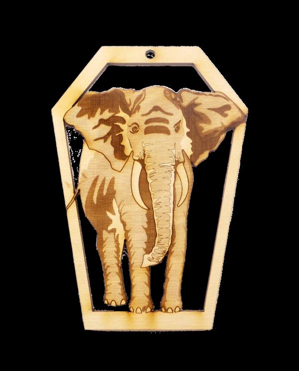 Personalized Elephant Ornament