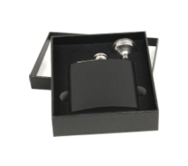 Engraved Black Flask