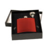 Engraved Flask, Red