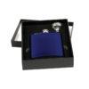 Engraved Blue Flask