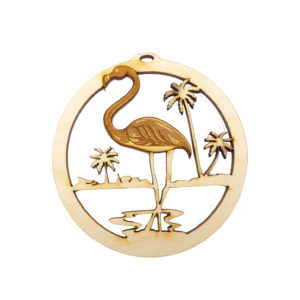 Personalized Flamingo Ornament