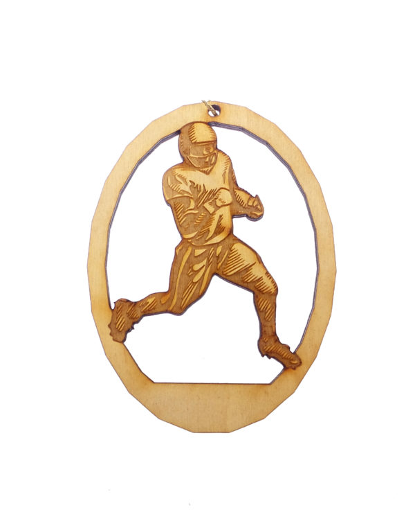 Personalized Football Player Ornament