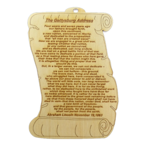 Gettysburg Address Ornaments