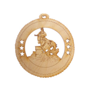 Female Barrel Racing Ornament