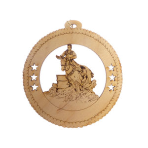 Male Barrel Racing Ornament