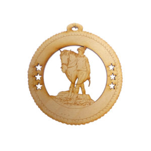 Girl Walking Horse Ornament
