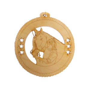 Girl with Horse Ornament