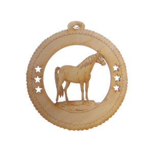 Personalized Horse Christmas Tree Ornament