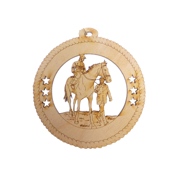 Horse Racing Christmas Ornament