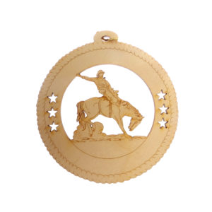 Personalized Bronco Rider Ornament