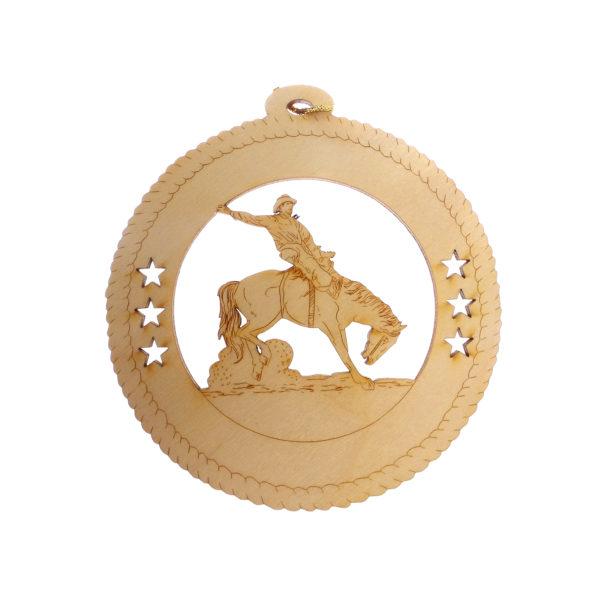 Personalized Bronco Rider Ornament