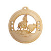 Personalized Steer Roping Ornament
