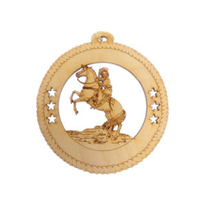 Personalized Western Horseback Rider Ornament