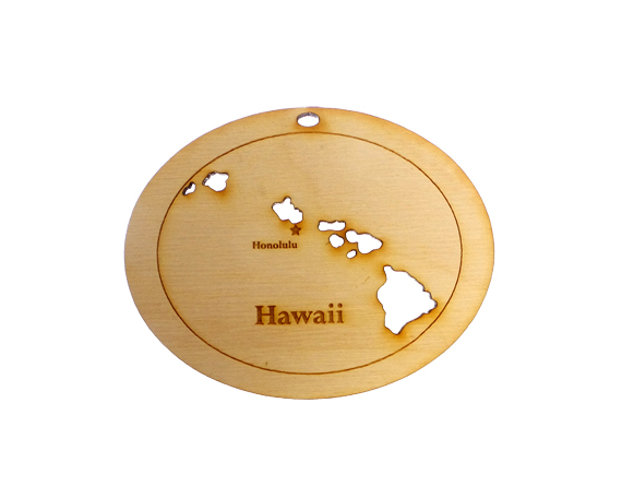 Personalized Hawaii Ornament