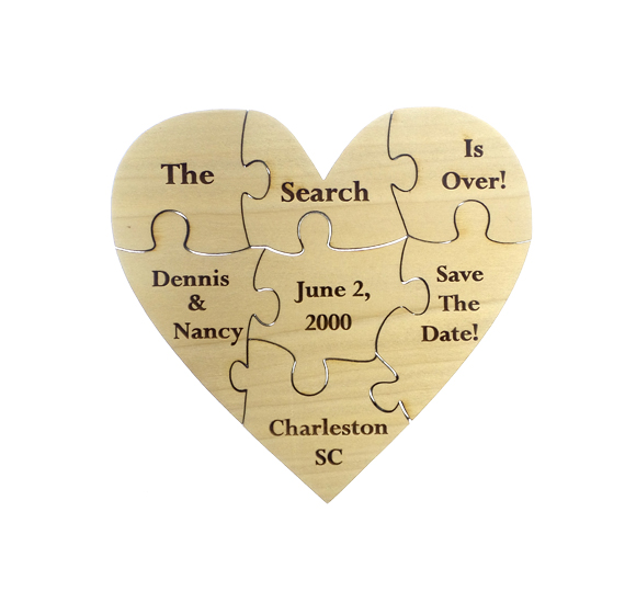 Wedding Save the Date Puzzle