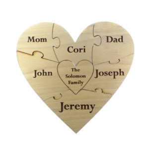 Heart Puzzle - Family Unity Puzzle