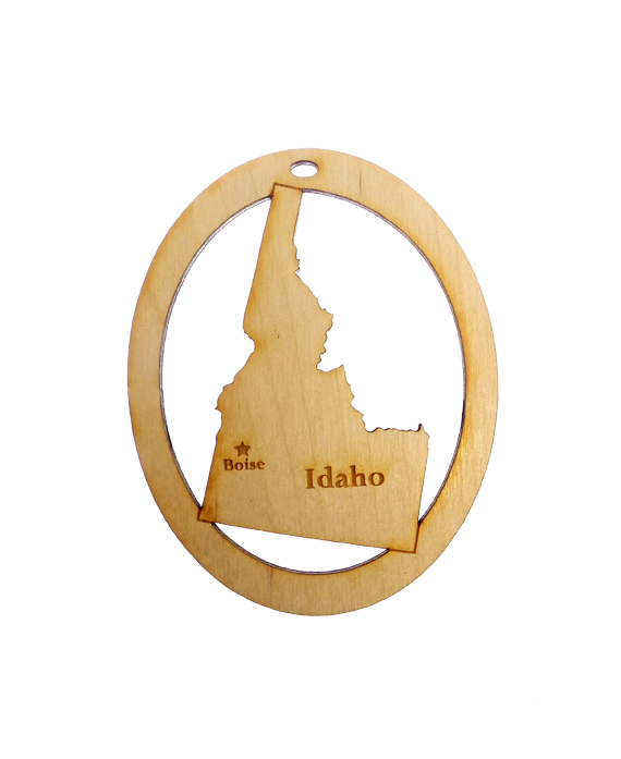 Personalized Idaho Ornament