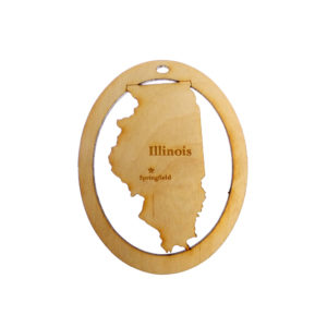 Personalized Illinois Ornament