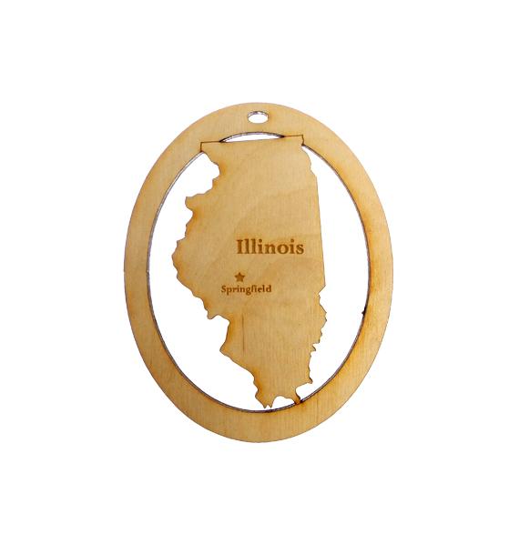 Personalized Illinois Ornament