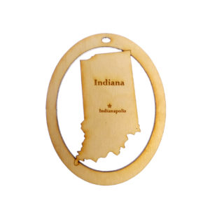 Personalized Indiana Ornament
